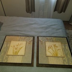 2 Laurel Lehman pictures floral framed